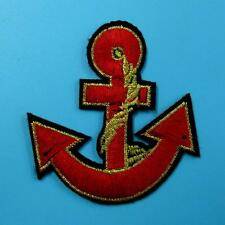 1 Rope Anchor Sea Ocean Ship Iron on Sew Embroidered Patch Badge Applique Biker