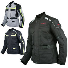 Textile Jacket Motorcycle Motorbike Armour CE Breathable Waterproof