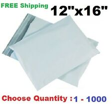 12x16 Poly Mailers Shipping Envelopes Plastic Self Sealing Mailing Bags 1 - 1000