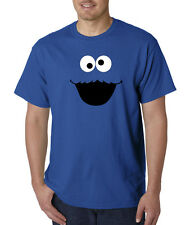 Cookie Monster Face Sesame Street Cartoon T-Shirt S-5XL