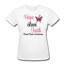 Hope Love Faith Breast Cancer Women's T-Shirt by Spreadshirt™