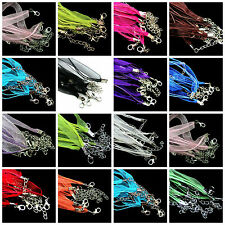 5/20pcs Organza Ribbon Cord Lobster Clasps Necklace Chains Jewelry Finding 48cm