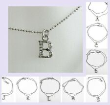 INITIAL Ankle Bracelet Silver Destination Beach Wedding Jewelry Gift Boxed