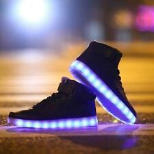 New LED Night Light Mens Womens Light Up Trainer Lace Up Sneakers Trainers Shoes