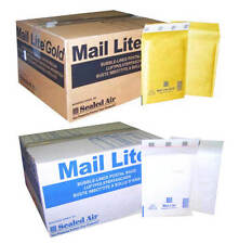 MAIL LITE PADDED ENVELOPES - BUBBLE BAGS - D/1 - WHITE & GOLD- ALL QUANTITY