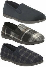 KING TWIN MENS CLARKS TWIN GUSSET SOFT COSY WARM LIGHTWEIGHT EVERYDAY SLIPPERS
