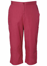Koret Womens Casual Elastic Waist Pull On Slouch Cropped Capri Pants Size 8-24