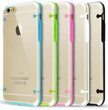 For iPhone 6 / 6S - Hard TPU Rubber Gummy Transparent Clear Skin Case Cover