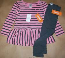 Gymboree Play by Heart Pink & Gray Striped Tunic w/Leggings 4 NWT