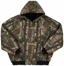 Seattle Seahawks NFL Canvas Quilt Lined Realtree Camouflage  Hooded Jacket: 2XL