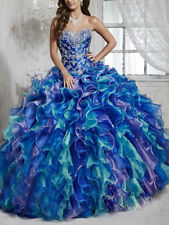 Sexy Multi Color Quinceanera Dresses Ball Gown For 15 Years Prom Party Dress Hot