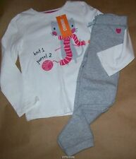 Gymboree Lavender Bunny Knitting Kitty Tee w/Sweat Pant 4t NWT