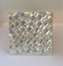 Set of 6 Mother of Pearl Square Coasters Brand New!
