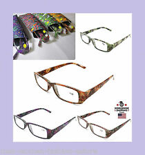 New Womens Ladies Readers Reading Burnout Tie Dye Rose Leaf Leaves Style Glasses