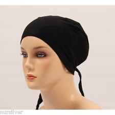 Top quality Stylish Under Scarf Bonnet Tie Back Cap for Hijab Head Scarf Chemo