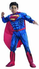 SUPERMAN Deluxe Boys Costume w/ Muscle Chest Kids Youth Child Children DC Comics