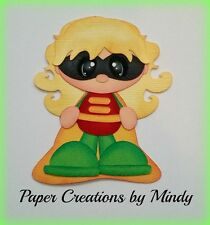Craftecafe Mindy Batman Robin girl premade paper piecing scrapbook page album