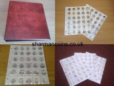 Coin Album Pages for 50p - £1 - £2 and Olympic 2012 50p coin collections