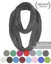 Unisex Unisex Jersey Warm Circle Infinity Plain Snood Scarf Cowl