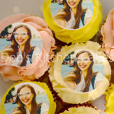 Selfie Cake Toppers - Edible Selfie Photos - Photo cake Toppers - Cupcakes
