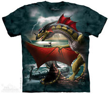 The Sentinel T-Shirt by The Mountain. Fantasy Dragon Tee Sizes S-5XL NEW