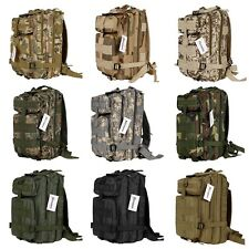 3P Oxford Tactical Military Backpack Camouflage Camping Hiking Rucksack FTMK