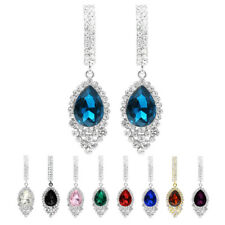 Women Fashion Rhinestone Drop Dangle Hook Charming Earring Ear Stud