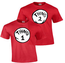 DR. SEUSS THING ONE 1 2 thing 1 and thing 2 t shirt youth adult infant