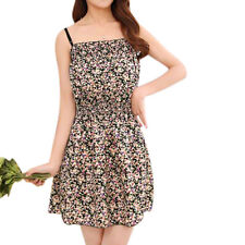 Ladies Pullover Floral Print Spaghetti Strap Casual Sundress