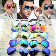 Hot Unisex Women Men Vintage Retro Fashion Aviator Mirror Lens Sunglasses Glasse