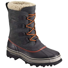 SOREL MENS CARIBOU WINTER SNOW BOOTS - NEW WATERPROOF LEATHER THERMAL WARM LINED