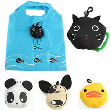 Lovely Women Reusable Storage Bag Shopping Tote Foldable Cute Animal Purse Eco