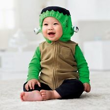 CARTER'S INFANT BABY 3PC MONSTER FRANKENSTEIN HALLOWEEN COSTUME SET OUTFIT 12M