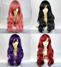Watch Out Cosplay Long WAVY Wig Purple RED Ladies Wigs from WIWIGS UK