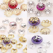 8/9/10/14/16mm New Alloy Flower Spacer Bead Caps Jewelry Finding Silver/Gold