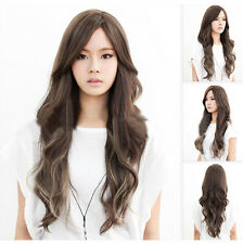 Womens Cosplay Wig Lady Long Curly Wavy Hair Full Wigs Party Costume Wigs Gift