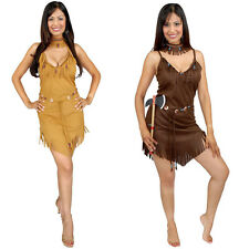 Sexy Pocahontas Adult Size Indian Native Costume Outfit Womens Girls Cosplay