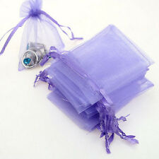 50 Organza Gift Bags Jewellery Christmas Packing Pouches Wedding Party Favour KY