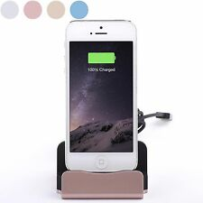Aluminum Charging Dock/ Station & Data Charger Cable For iPhone Samsung HTC LG