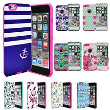 Hybrid Shockproof Rugged Rubber Hard Cover Case Skin for Apple iPhone 5 5s SE