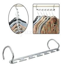 Metal Clothes Dress Pants Closet Rack Space-saving Ties Scarfs Hanger Organizer