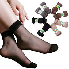 Hot 10 Pairs Sexy Women Ultra Thin Silk Girl Short Stockings Ankle Low Cut Socks