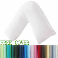 V SHAPED PILLOW AND FREE COVER  ORTHOPAEDIC MATERNITY PREGNANCY NURSING SUPPORT
