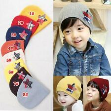Baby Children Toddler Star Infant Soft Knit Girl Boy Beanies Cap Hats