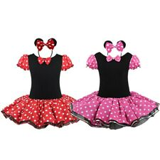 Xmas Girl Baby Minnie Mouse Party Costume Ballet Tutu Gown Dress+Headband A6-313