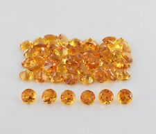Natural Yellow Citrine Round Cut 1mm - 8mm Calibrated Size Quartz Loose Gemstone