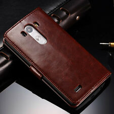 Luxury Leather Magnetic Flip Wallet Case Stand Cover For LG Optimus G3 D855 D850