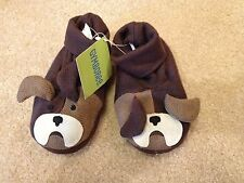 NWT NEW GYMBOREE boy dog winter indoor booties shoes size Toddler 7/8, 11/12