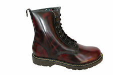 GRINDERS New CEDRIC Cherry Red Boot 8 Eyelet Derby Lace Non Safety Leather Boots