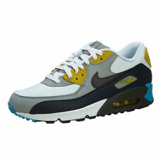 NIKE AIR MAX 90 ESSENTIAL White-Grey-Blue MENS Sneakers Trainers